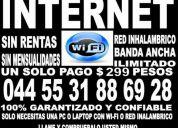 Internet- infinitum- sin rentas fijas