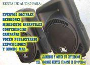 Renta de audio para eventos