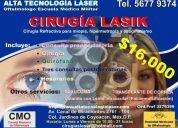 Cirugia laser lasik oculista oftalmologo, escuela medico militar