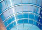 Techos, domos y estructuras de policarbonato