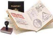 Lleno formas para solicitud de visa