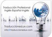 Traducciones lux comunicación inglés español inglés
