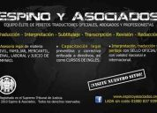✔ agencia de traducción, perito traductor oficial – inglés/español/inglés - juarez
