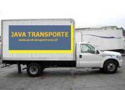 Servicio de transporte de carga, fletes y mudanzas