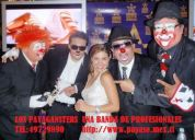 Payasos los payagansters  4 shows en uno