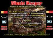 Music keeper convoca grabacion cd y eventos