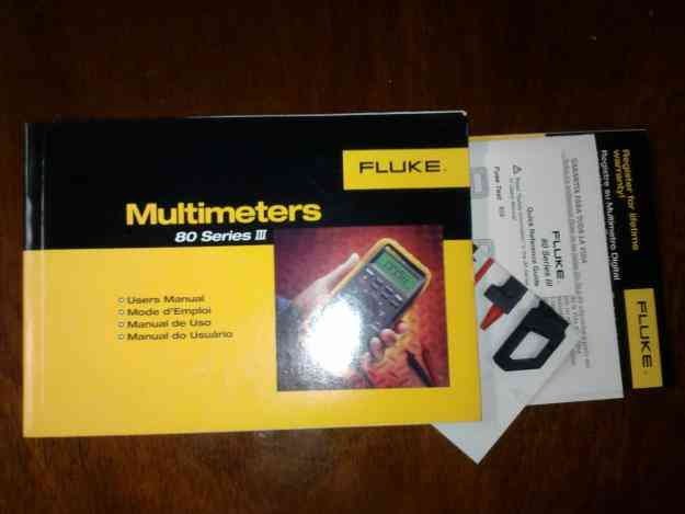 manual de multimetro fluke 87