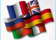 Cursos de ingles, frances, italiano, aleman y holandes.