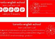 English  and spanish lessons for adults and kids