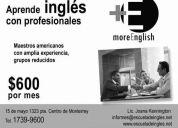 ¡ ¡ ¡ inglés desde $600 mensuales ! ! !