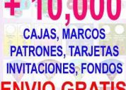 + 10,500 fondos, invitaciones, tarjetas, patrones,cajas