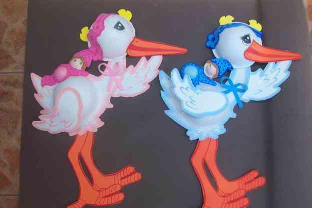 Como hacer figuras con foamy para baby shower - Imagui