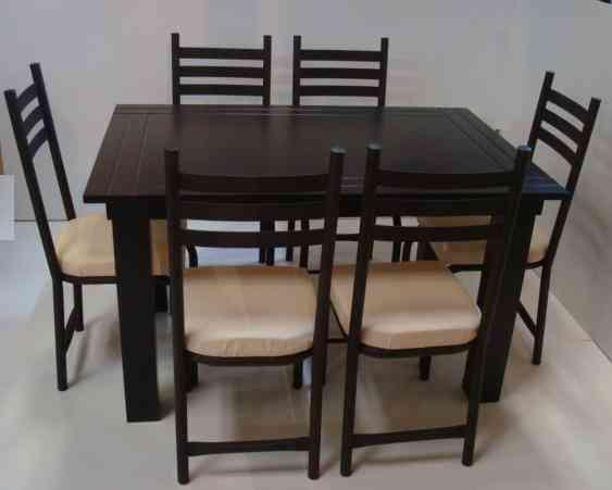 comedor minimalista chocolate duran 6 sillas ecatepec de