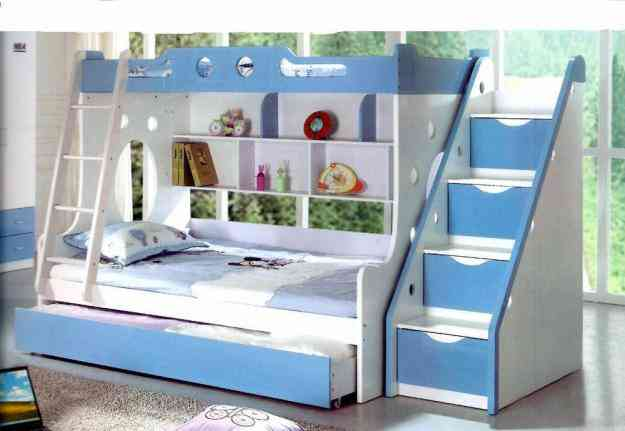 Camas y literas kids world le n hogar jardin muebles - Camas literas modernas ...