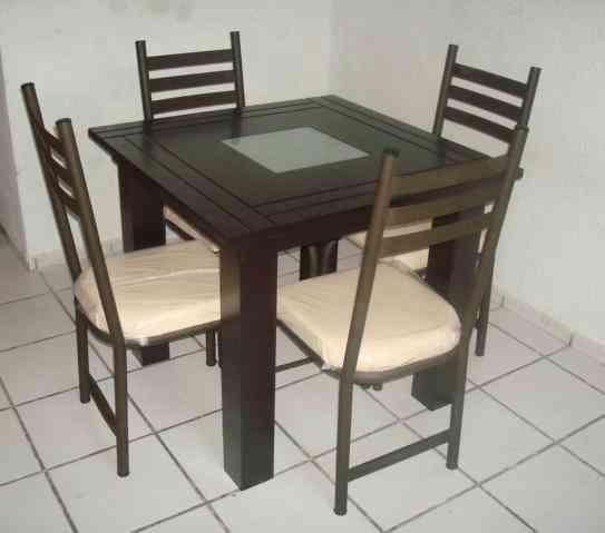 Comedor minimalista chocolate antares 4 sillas ecatepec for Sillas minimalistas para comedor