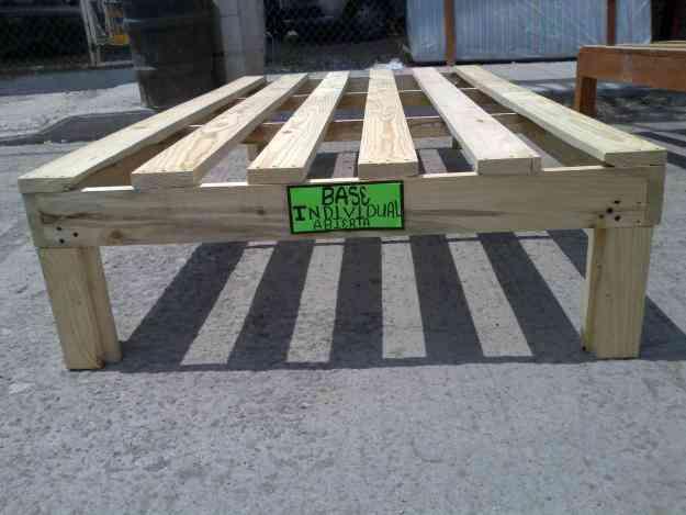 Vendo bases de madera para cama rioverde hogar - Bases de cama de madera ...