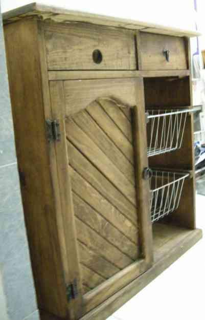 Mueble cocina de madera r stica despachador de agua for Muebles cocina rusticos segunda mano