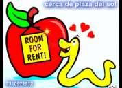 habitacion amplia: sola ; compartida o visitas
