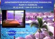 Acapulco vacaciones departamento en renta sobre playa en zona dorada
