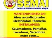 Electricidad, plomería, aire acondicionado y mas mantenimiento e instalación
