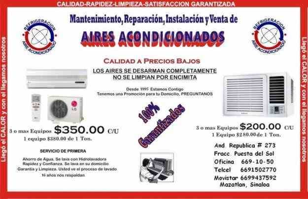 Mantenimiento De Aires Acondicionados Y Minisplit