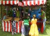 Show botargas animadoras puestos kermes decoración con globos taquizas juegos martha payan