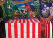 Inflables juegos mecánicos show animadoras espiropapas decoración con globos pintacaritas