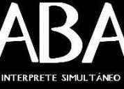 Aba interprete simultaneo