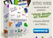 Llévate gratis una tablet con designinnweb