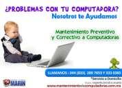 Mantenimiento preventivo y correctivo de computadoras