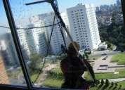 servicio de lavado  de vidrios de altura