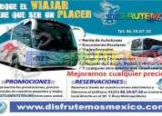 renta de autobuses y camionetas economicos