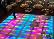 Pista iluminada periqueras cama lounge barra salas lounge