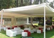 Salas lounge,periqueras y barras para eventos exclusivos