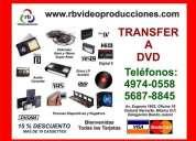 Transferencia a dvd (vhs, beta, hi8, mini dv, peliculas 8mm, 16mm