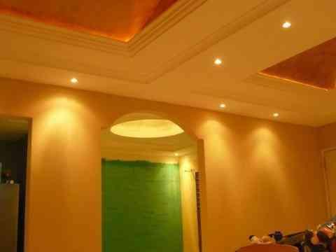 Fotos de plafones y muros de tablaroca centro for Plafones decorativos pared