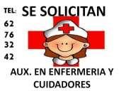 Solicito aux. enfermeras y cuidadores
