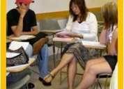 Grupos reducidos, clases amenas, inglés solo en american english
