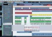 Clases de producción musical protools, cubase, reason, etc