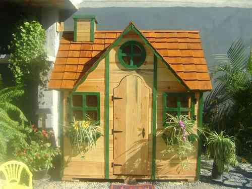 Excelentes casitas de madera para ni os a precios muy for Casitas de jardin plastico