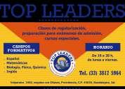 Cursos de preparación para exámenes de admisión, etc...top leaders