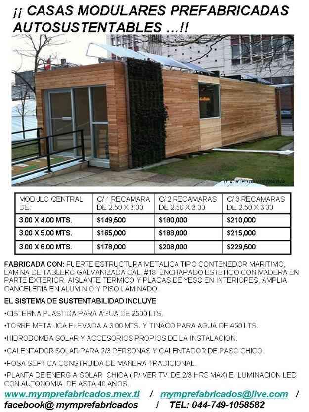 Casas prefabricadas autosustentables super economicas - Precios de casas prefabricadas economicas ...