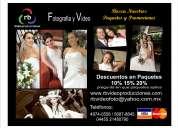 Paquetes Fotografia y Video - bodas, xv años, comuniones, bautizos