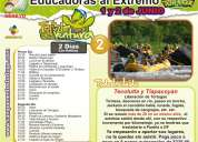 Campamentos tortuga te invita a su  proxima  salida  para  educadoras