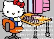 Se solicita empleada para atender cibercafé