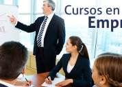 Cursos de capacitación empresarial en ventas y tópicos