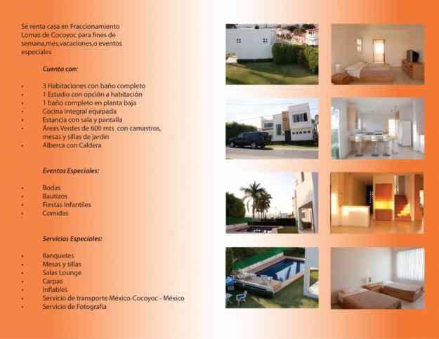 Rento casa nueva en lomas de cocoyoc tlalpan doplim 95780 for Casa minimalista tlalpan