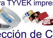 pulsera tyvek impresión digital seleccion de color !desde 250  piezas¡