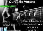 Curso de verano intensivo de guitarra electrica ó acústica a domicilio méxico df.