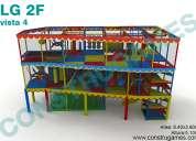 Juegos laberintos con espacio libre tipo mezzanine
